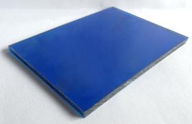 Tấm polycarbonate đặc màu xanh biển