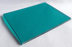 Tấm polycarbonate đặc màu xanh ngọc