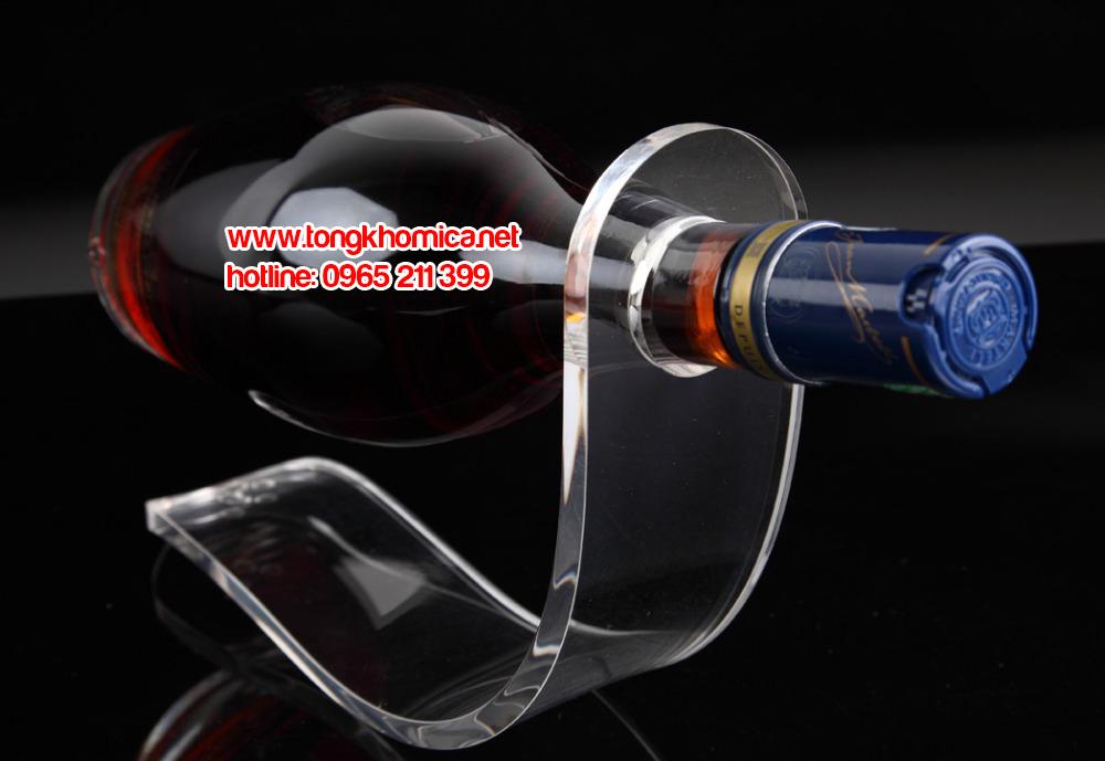 ke ruou mica0 1 - Kệ trưng bày chai rượu mica