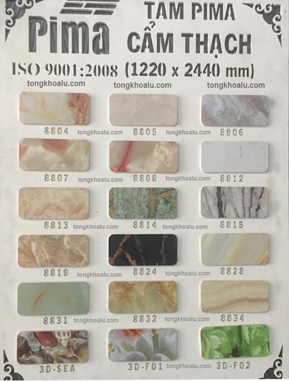 bang mau pima cam thach - Bảng báo giá tấm Formex - PVC Foam