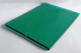 tam lop lay sang thong minh polycarbonate dac ruot xanh la green - Tấm poly đặc ruột