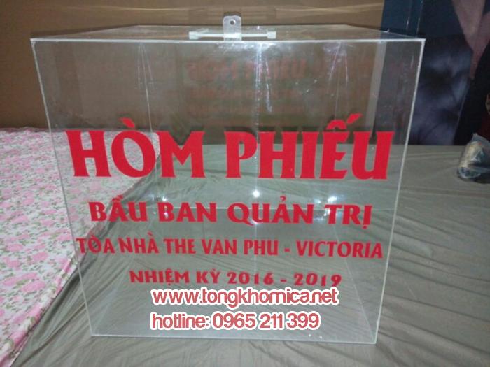 hộp thư mica, hòm phiếu mica, hộp mica trưng bày