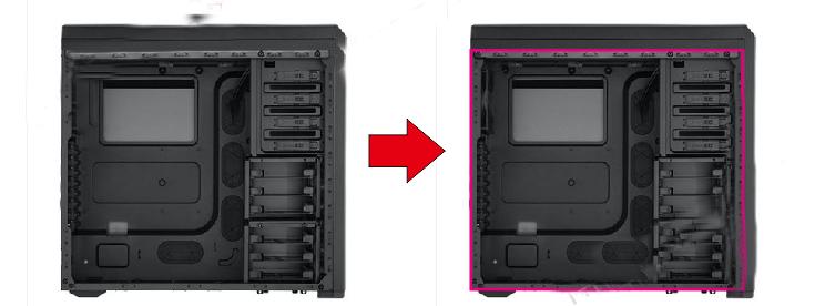 Làm thùng máy tính pc trong suốt bằng tấm mica trong